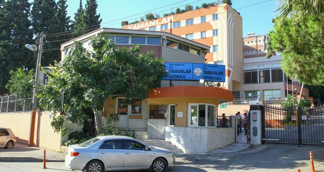The exterior of a school operated by Gülenists. The Yamanlar College was among schools raided by police on Tuesday in an operation against the Gülen Movement.