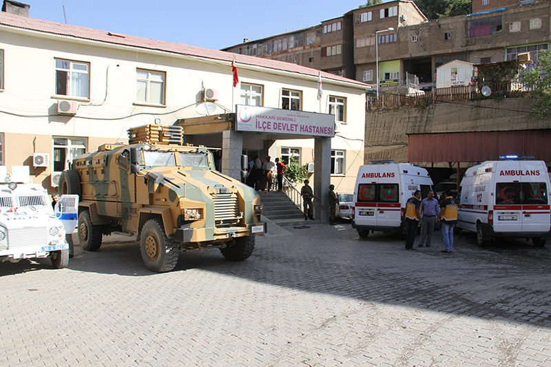 Soldiers who were wounded by the terrorist attack were transferred to u015eemdinli district hospital for treatment (AA Photo)