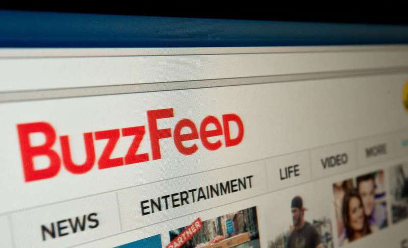 The logo of news website BuzzFeed is seen on a computer screen in Washington, D.C. BuzzFeed said on Aug. 18 it secured a $200 million investment from Comcast's NBCUniversal, the latest major cash infusion into the digital news sector.
