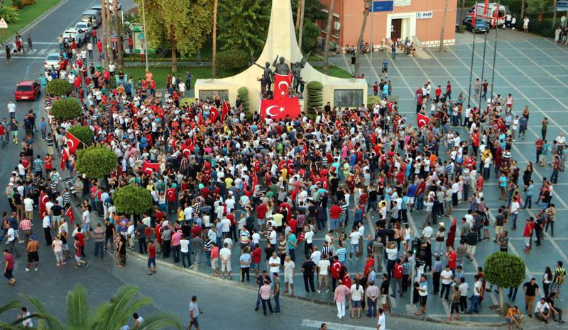 The public's protest to the PKK's increasing terrorist attacks continue in many cities across Turkey.