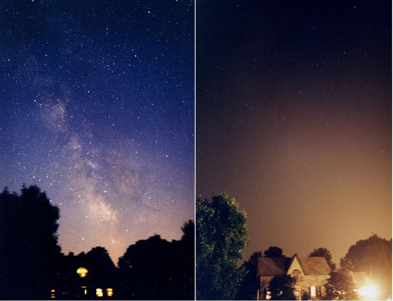 In most big cities, people cannot watch the night sky and stars as they do in villages due to light pollution.