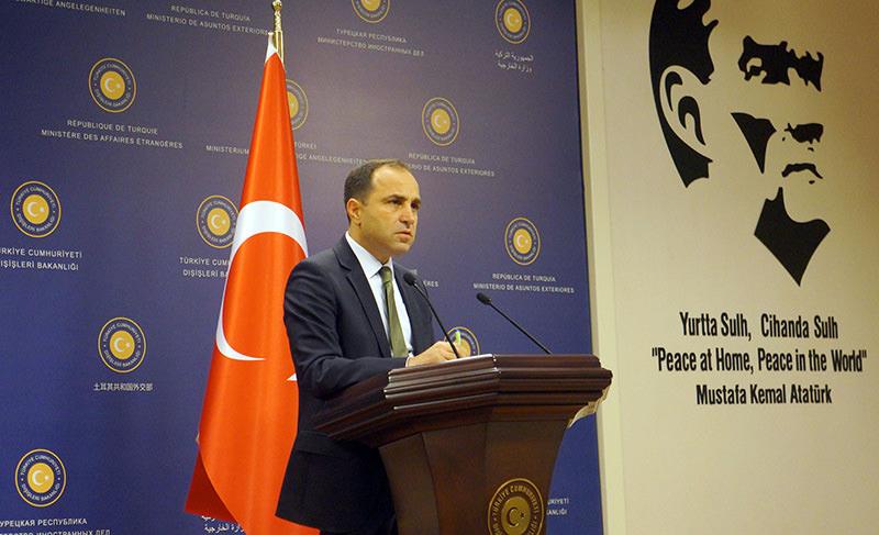 Turkish Foreign Ministry spokesman Tanju Bilgiu00e7, 07.08.2015 (u0130HA photo)
