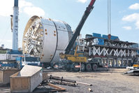 Robbins Crossover TBM under construction in Ankara
