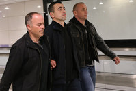 Former police chief Sedat Zavar (middle), who is accused of wiretapping Erdoğan's office was extradited by Romania after Turkey sent the investigation file (IHA Photo)