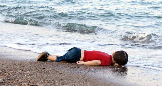 Image result for syrian refugees washed up on shore
