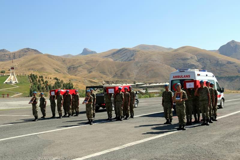 3 Turkish soldiers were killed on August 14, 2015 in PKK's 5th most volent attack to Hakkari's Dau011flu0131ca town since 2007. (DHA Photo)