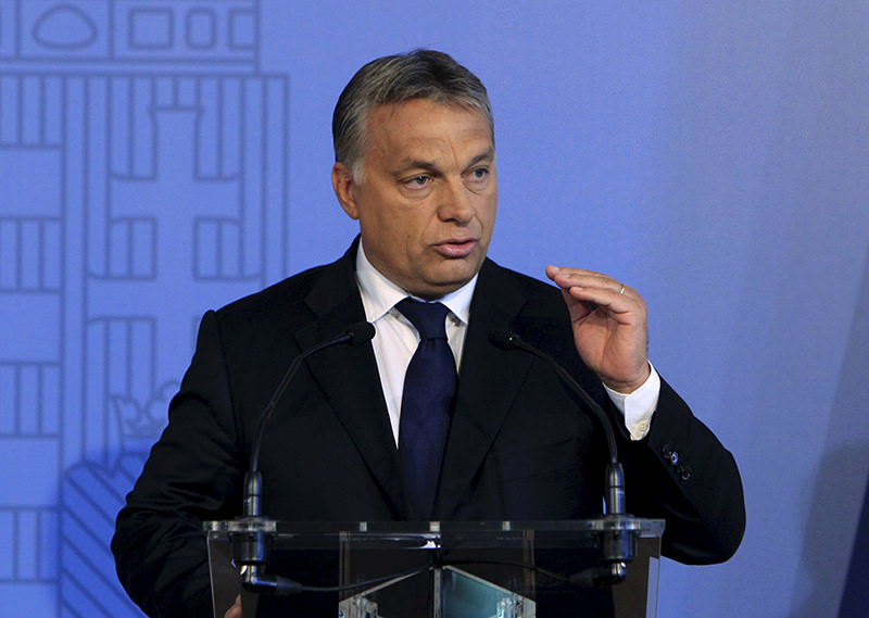 Hungarian Prime Minister Viktor Orban delivers a speech in Budapest, Hungary, September 7, 2015 (Reuters Photo)