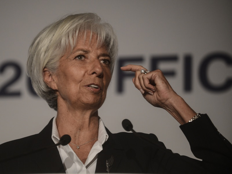 International Monetary Fund Managing Director Christine Lagarde addresses the W20, a group of women leaders, as the world's 20 leading economies launch a new group aimed at boosting the role of women in global economic growth in Ankara.