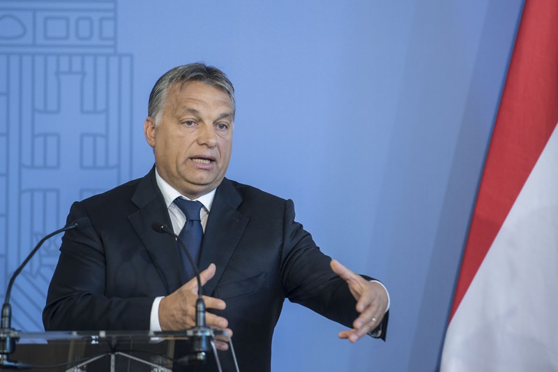 Hungarian Prime Minister Viktor Orban delivers a speech in Budapest, Hungary, September 7, 2015. (AA Photo)