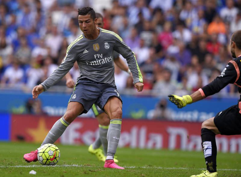 Cristiano Ronaldo netted five goals to become Real's record scorer in La Liga.