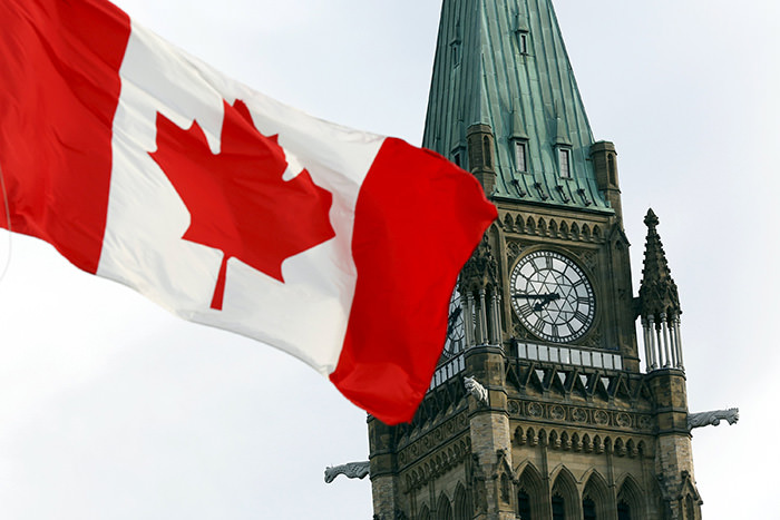 he Canadian flag flies on Parliament Hill in Ottawa August 2, 2015 (Reuters Photo)