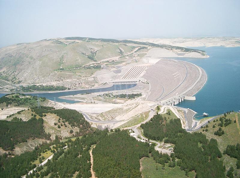 Atatu00fcrk Dam located on the border of Adu0131yaman Province and u015eanlu0131urfa Province in Southeastern Turkey
