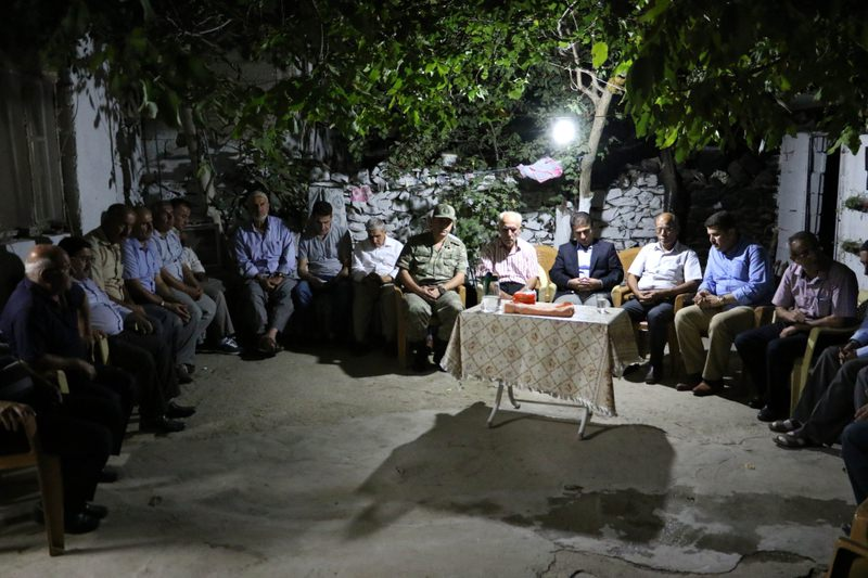 The sorrow in the family home of Mehmet Tuhal, martyred by a bomb planted and detorated by the PKK at the time he was passing by in his police car, still lingers.