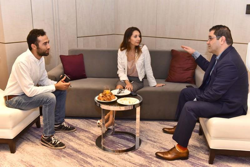 Sabah's Yunus Girgin (L) spoke with Shervin Pishevar (R) regarding angel investors and his latest investment in Uber.