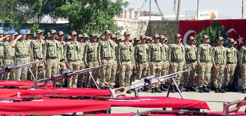 A group of new village guards in a ceremony in Turkey's Mardin province (DHA Photo)