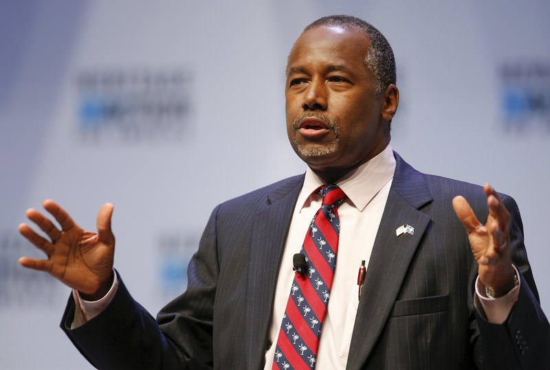 U.S. Republican candidate Dr. Ben Carson speaks during the Heritage Action for America presidential candidate forum in Greenville, South Carolina September 18, 2015. (REUTERS Photo)