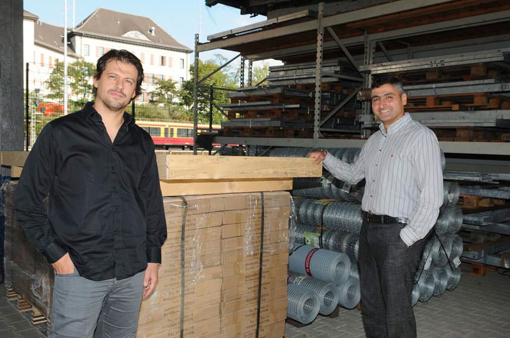 Değer and Ekrek in their facility in Berlin (Photo: Sabah Germany)