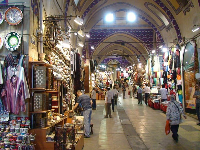 The Grand Bazaar in Istanbul is the heart of commerce and shopping in the city, where people do not purchase anything without bargaining first.