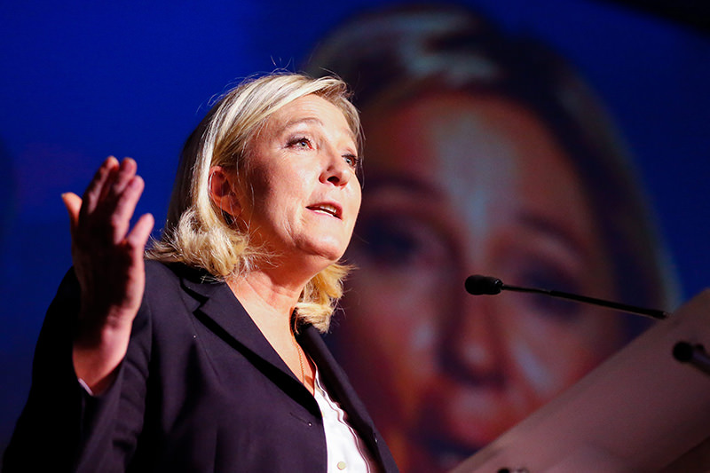 Marine Le Pen, the leader of the French far-right political party 'Front National' (FN), in Brussels, Belgium, 15 September 2015 (EPA Photo)