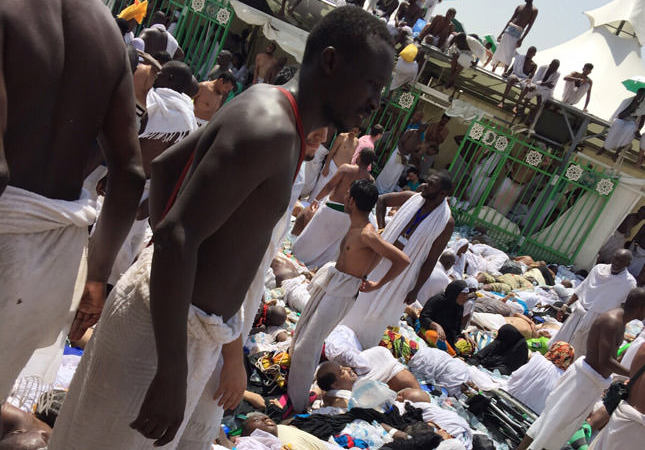 At least 769 dead, 934 injured in stampede at Mina during Hajj pilgrimage in Saudi Arabia