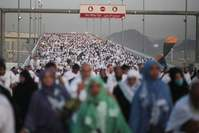 Hundreds of thousands of Muslim pilgrims at the annual hajj, on the first day of Eid al-Adha, in Mina near the holy city of Mecca, Saudi Arabia, Thursday, Sept. 24, 2015. (AP Photo