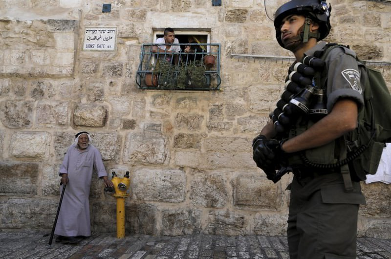 The signs of Israel's pressure on Palestinians is evident by the actions of the Israeli police in the region.
