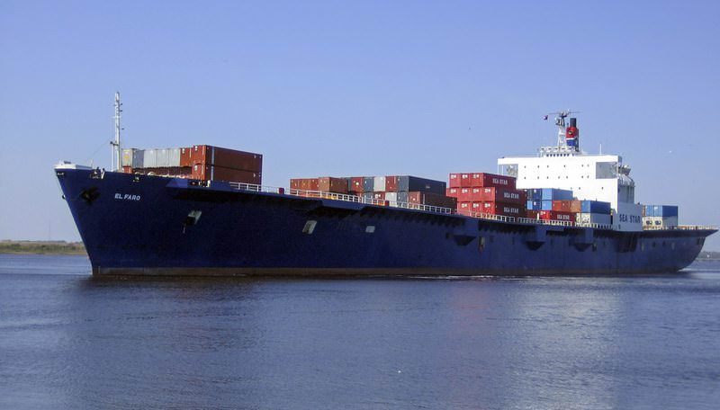 An undated handout photograph shows the container ship El Faro that according to the US Coast Guard has gone missing in Hurricane Joaquin. (EPA Photo)