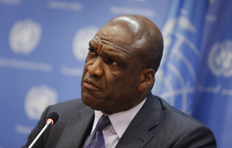 Ambassador John Ashe of Antigua and Barbuda, current President of the U.N. General Assembly, speaks during a news conference ahead of the 68th UNGA, September 17, 2013. (REUTERS Photo)
