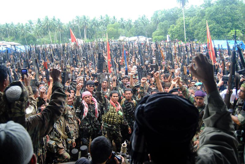 Fighters of the Moro Islamic Liberation Front vow to fight against ISIS-linked Abu Sayyaf as the group sabotages peace talks with the government.