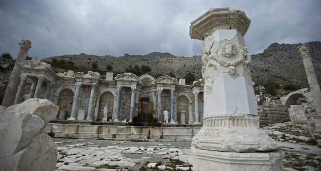 The antique city of Sagalassos carries traces of ancient Anatolia