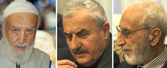 Photo shows Abdullah Yeu011fin, Hu00fcsnu00fc Bayramou011flu and Ahmet Aytimur. (Photo courtesy of Yeni u015eafak)