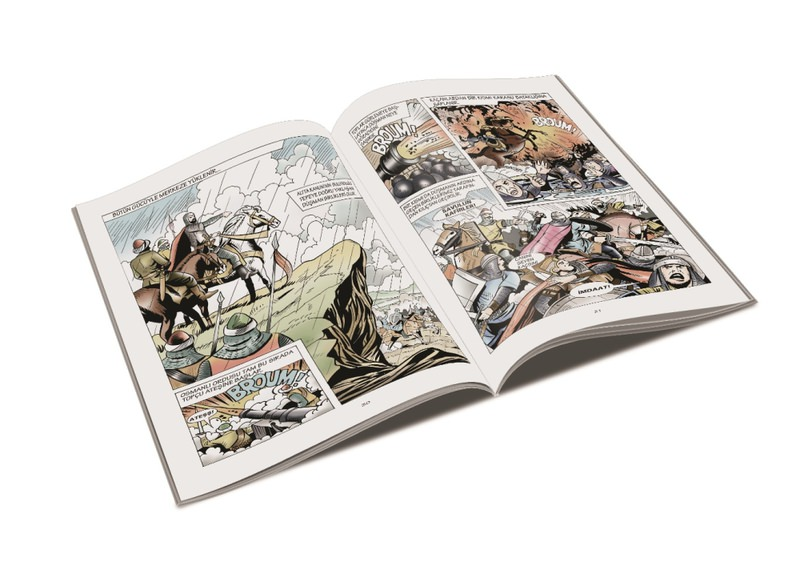 Artist Yu00fcksel Akman adapted Ottoman sultans' lives to comic books. He read 16,000 pages of historical texts while drawing the comic books.
