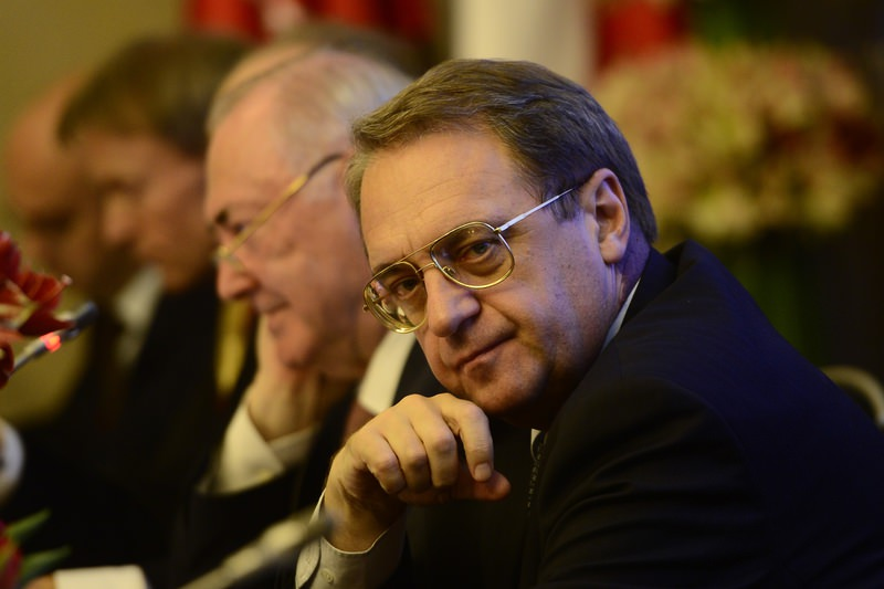 Russian Deputy Foreign Minister Mikahil Bogdanov pictured at the ,Russia and Turkey: Forging Multidimensional Partnership, conference held on Oct 15, 2015. (AA Photo)