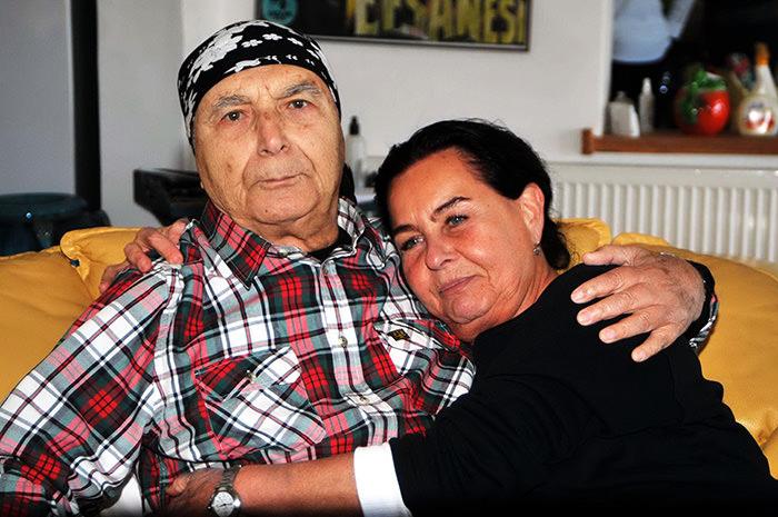 Director Memduh u00dcn (left) with his partner Fatma Girik (DHA Photo)