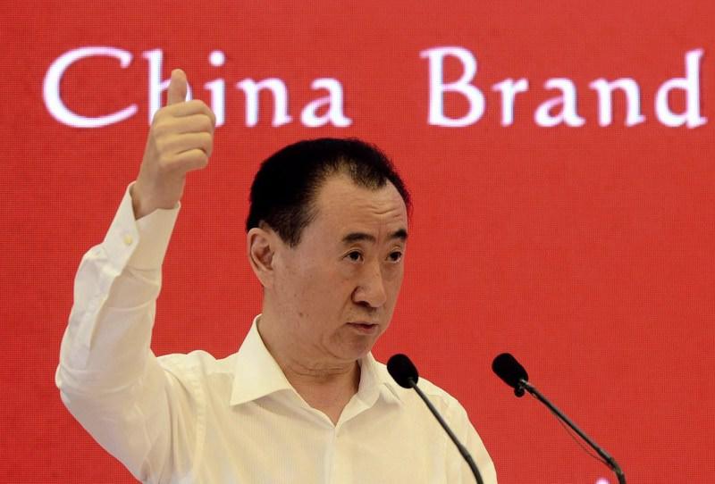 Wang Jianlin, chairman of property giant Wanda Group, at the China Brand Forum in Beijing.