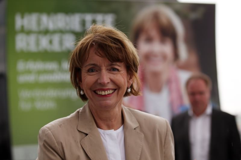 Picture taken on July 30, 2015 shows the candidate for mayor's election Henriette Reker in Cologne, western Germany. (AFP Photo)