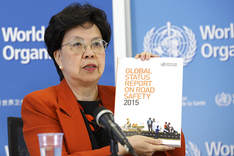 Chan presenting the report in Geneva on Monday (AA Photo)