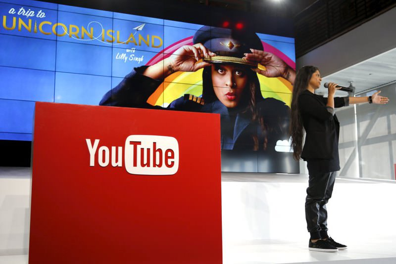 YouTube star Lilly Singh unveils YouTube's new paid subscription service at the YouTube Space LA in Playa Del Rey, Los Angeles, California.