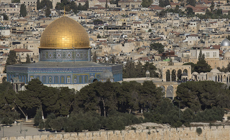 Al-Aqsa mosque compound in the Old City of Jerusalem, 28 September 2015 (EPA photo)