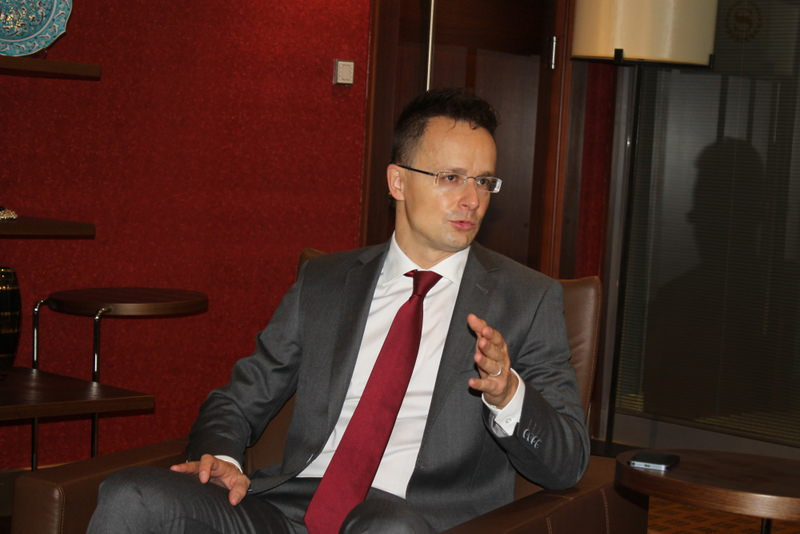 Hungary's Minister of Foreign Affairs and Trade, Pu00e9ter Szijju00e1rtu00f3