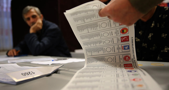 An official counts ballots shortly after the polling stations closed at the end of the election day, in Istanbul, Sunday, Nov. 1, 2015 (AP photo)