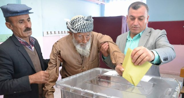 Older than Turkey's democracy at the age of 104, Mehmet Esen joined his fellow centenarians, voting with shaky hands and a firm confidence in democracy.