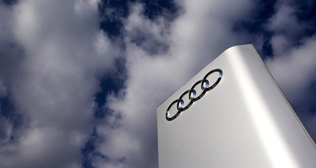The Audi logo is seen at the entrance of the Audi powerplant in Brussels, Belgium in this September 28, 2015 file picture. (REUTERS Photo)