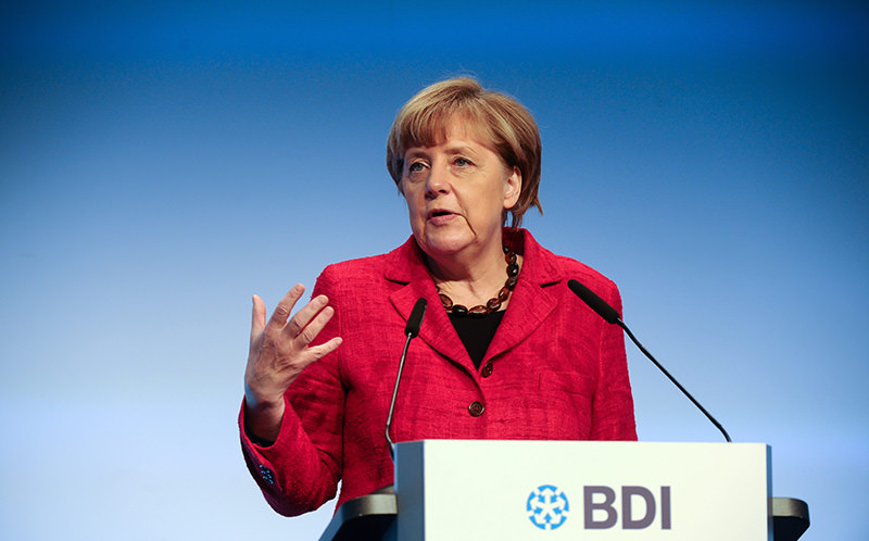 German Chancellor Angela Merkel speaks during the 'Tag der Deutschen Industrie' event (German Industry Day 2015) (EPA Photo)