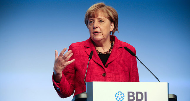 German Chancellor Angela Merkel speaks during the 'Tag der Deutschen Industrie' event (German Industry Day 2015) (EPA Photo)