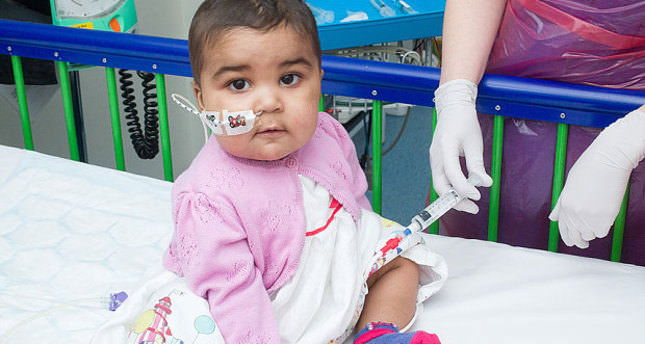 1 year-old Layla Richard has become the first in the world to be cleared of leukaemia through a genetic editing technique (Photo: Great Ormond Street Hospital)