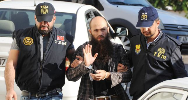 A police unit taking an ISIS suspect into custody in the Mediterranean province of Antalya on Friday.