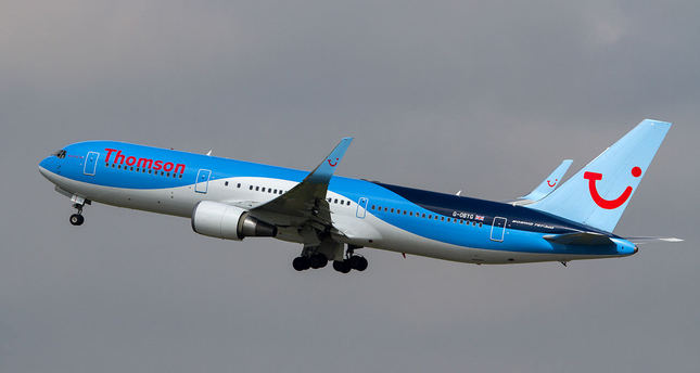 A Thomson Airways Boeing 767-300 is seen in this file picture