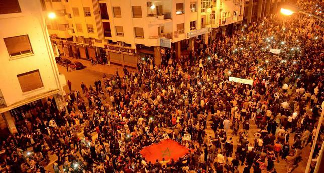 Hundreds of Moroccans staged protests over the weekend against the government over economic problems which are considered as the main reason for why youth join extremist groups.
