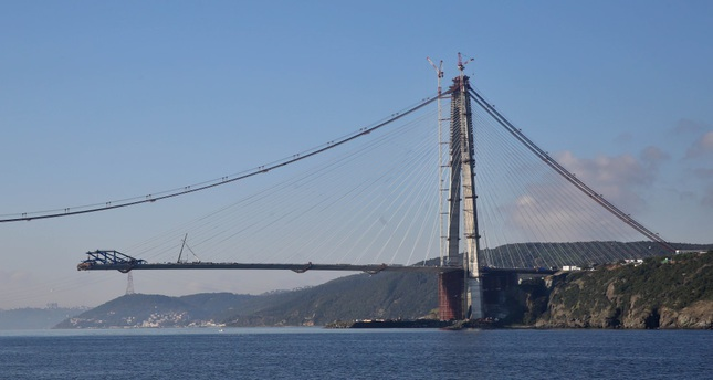 Istanbul's third bridge nears completion